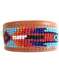 Will Leather Goods - Beaded Cuff Bracelet - Natural - Lyst