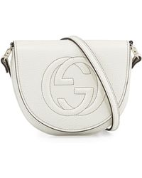 Gucci Interlocking G Leather Messenger Bag - Lyst