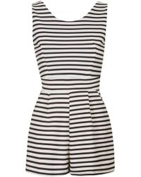 Wal-G - Sleeveless Stripe Playsuit By - Lyst