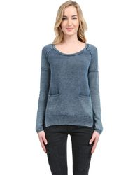Splendid Indigo Cotton Sweater - Lyst