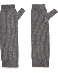 Loma Marine Ribbed Wool and Cashmere-blend Fingerless Gloves - Lyst
