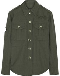 Marc Jacobs Wool-Gabardine Shirt - Lyst
