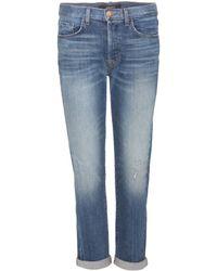 J Brand Georgia Cropped Jeans - Lyst