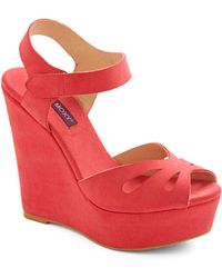 ModCloth Punch Bowl Planner Heel in Strawberry red - Lyst