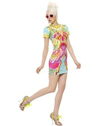 Manish Arora Printed Cotton Jersey Dress - Lyst