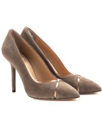 Charlotte Olympia Natalie Suede Pumps - Lyst