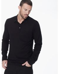 James Perse Cotton Cashmere Long Sleeve Polo - Lyst