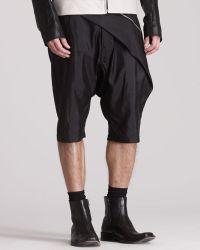 Gareth Pugh - Draped Swing Shorts - Lyst