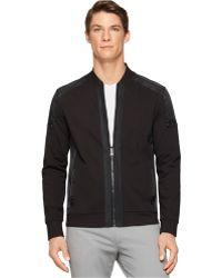 Calvin Klein Ck Premium Texture Blocking Full-Zip Slim-Fit Jacket black - Lyst