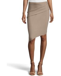 Halston Heritage Tuck-detailed Asymmetric Pencil Skirt - Lyst