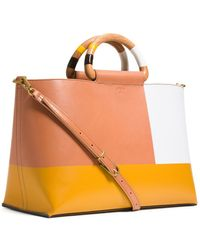 Tory Burch Color-Block Tote - Lyst
