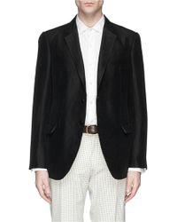Armani Woven Silk-Linen Blazer - Lyst