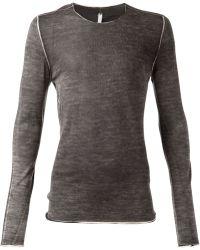 Label Under Construction Gray Selvedge Tshirt - Lyst
