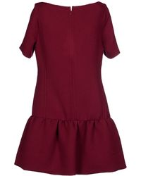 Victoria Beckham Short Dress - Lyst