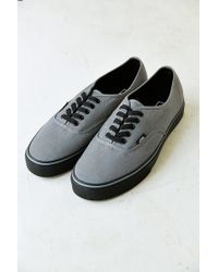 Vans Authentic Black Sole Men'S Sneaker - Lyst