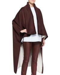 Adam Lippes Reversible Cape - Lyst