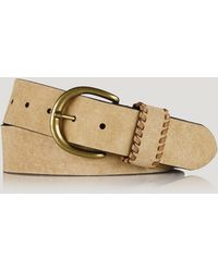 Ralph Lauren Lauren Belt  1 12 Suede with Whipstitched Keeper - Lyst