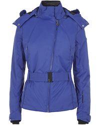 Armani Fur Trim Technical Jacket - Lyst