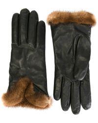 Etro | Mink Fur Trim Gloves | Lyst