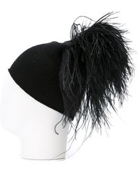 Gianluca Capannolo - Ostrich Feather Beanie - Lyst