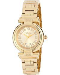 ESCADA - Ion Gold-plated Stainless Steel Three-hand Lauren Watch - Lyst