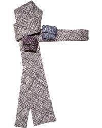 Rosemary Goodenough - Grey Wool & Silk Flight Check Mens Tie - Lyst