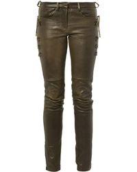 Isabel Marant Haper Skinny-Leg Leather Trousers - Lyst