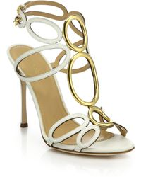 Sergio Rossi | Farrah Leather Sandals | Lyst