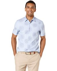 Perry Ellis Slim Fit Floral Print Sport Shirt - Lyst