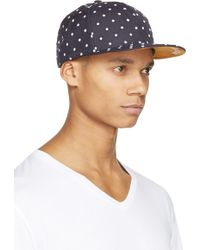 Mostly Heard Rarely Seen - Navy Polka Dot Cap - Lyst