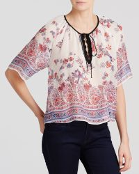 Twelfth Street Cynthia Vincent Top - Crop Peasant - Lyst