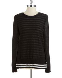MICHAEL Michael Kors Two Layered Sweater - Lyst