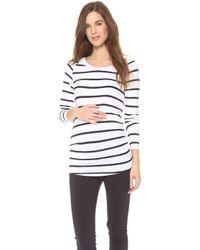 Rosie Pope - Long Sleeve Sylvie Maternity Top - Navy Stripe - Lyst