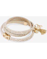 Cole Haan | Triple Wrap Snake Bracelet | Lyst