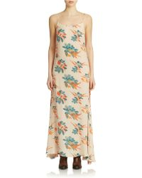 Free People Star Chasing Printed Maxi Dress - Lyst
