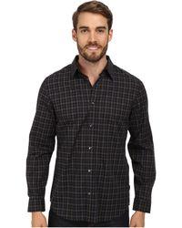 Calvin Klein Gingham Heathered Woven Shirt - Lyst