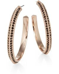 Giles & Brother Encrusted Hoop Earrings15 Inches - Lyst