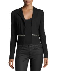 Versace | Metallic-Trim Silk-Blend Jacket | Lyst