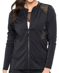Oakley - Sport Mesh Zip Front Jacket Color: Black Size: S - Lyst