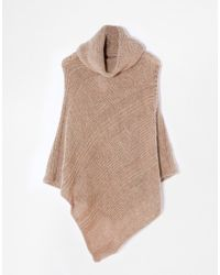 Esprit Knitted Poncho - Lyst