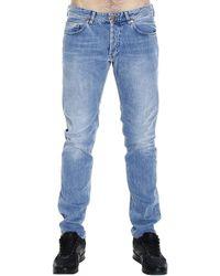 Mauro Grifoni Rocco 18,5Cm Bottom Denim Regular Jeans blue - Lyst