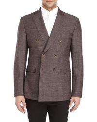 Belvest - Brown Slim Fit Wool Sport Coat - Lyst
