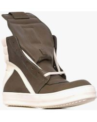 Rick Owens | Geobasket Leather High-Top Sneakers | Lyst