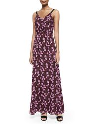 Band Of Outsiders Sleeveless Cherry Blossom Tank Gown - Lyst