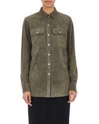 R/R Studio - Suede Snap-front Shirt - Lyst