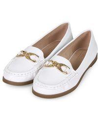 Topshop Latte Loafer Shoes - Lyst