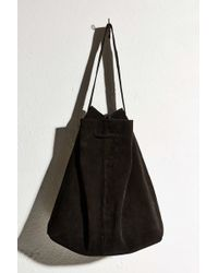 Ecote - Suede Drawstring Tote Bag - Lyst