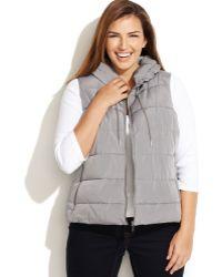 Calvin Klein Plus Size Puffer Vest - Lyst