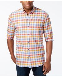 Cutter & Buck - Men's Big & Tall Eclipse Check Long-sleeve Shirt - Lyst