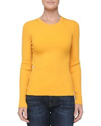 Michael Kors Crewneck Ribbed Sweater - Lyst